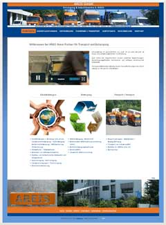 Internetauftritt AREIS Entsorgung + Industrieservice Wolfschlugen