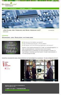 Internetauftritt GlobalFlow GmbH Reutlingen Entsorgungsmanagement