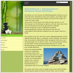 Internetauftritt Naturheilpraxis Konstanze Hauser