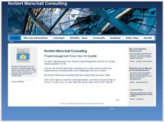 Internetauftritt Projektmanagement Norbert Marschall Consulting