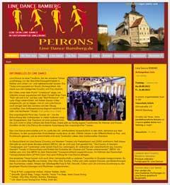 Internetauftritt PEIRONS Linedance Bamberg