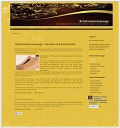 Internetauftritt Hautnah Schokoladenmassage