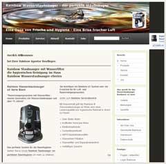 Internetauftritt Rainbow Agentur Reutlingen - Rainbow Wasserstaubsauger Vertrieb + Service